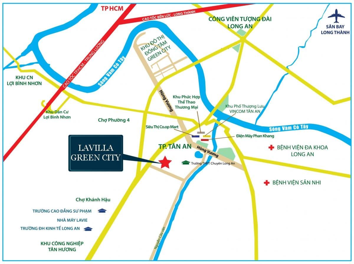 Vị trí Dự ánLavilla Green City Long An